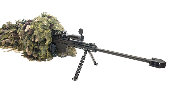 Ghillie Suit & Barret Rifle .50 cal